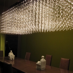 beautiful chandelier by Baxter, shown at their exhibit in the Milan furniture fair 2010.