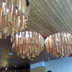 Interesting woody chandeliers