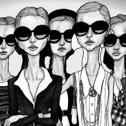 Igor + André blog is full of illustration by Fashion Illustrator Danny Roberts. This illustration is one he did of a Chanel Collection.