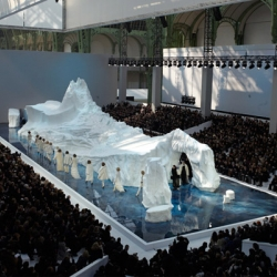 Chanel used a 265-ton, 28-foot-tall iceberg as the backdrop of its Fall/Winter 2010 collection at Paris Fashion Week.