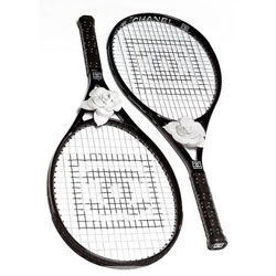 Chanel goes for a carbon fiber tennis racket... complete with gorgeous roses