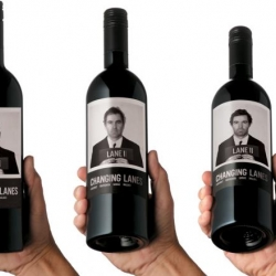 Changing image concept on wine bottle designed by Mash Studio.