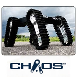 Autonomous Solutions' CHAOS robot is .... WOW. climbs stairs WHILE you stand on it... Designed to move silently over unstable ground, it is also intended for search and rescue, recon, etc. MUST watch the vid.