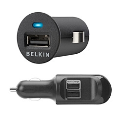 Nice new sleek little car chargers from Belkin ~ Micro and Dual Auto Chargers!