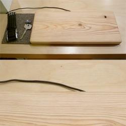 Wood induction charging prototype.