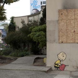 New Banksy pieces in Hollywood