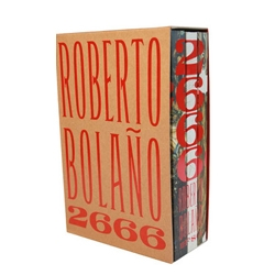FSG designer Charlotte Strick designed the impressive paperback and hardcover for Roberto Bolaño's 2666...