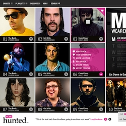 We Are Hunted has launched a design refresh that features a slidable iPad-like user interface ~ It's also a great place to find new music, everyday.