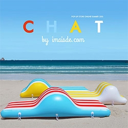 CHAT ~ beautiful, minimalist, modular, summery inflatable floats by imaisde! Limited edition of 3,000. The collection includes: Christina , Henry and Athina.