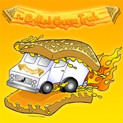 The Grilled Cheese Truck now roams LA ~ amusing design... curious how the food is.