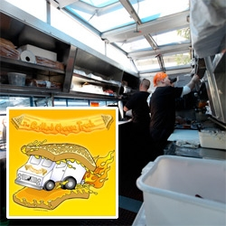 Peeking inside LA's Grilled Cheese Truck ~ and a look at their truck, branding, and the food itself (from tomato soup shots to dessert grilled nutella/marshmallow/banana)