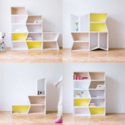 Cheeky Boxes by Process ~ lovely modular boxes turn into a myriad of shelving options.