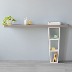 Neat, functional and essential lines give shape and meaningful expression to Grusella, a console that becomes a shelf, small bookcase, where to place your showpieces.