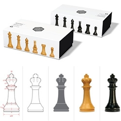 Pentagram partner Daniel Weil with a new design for the chess set, using principles of classical architecture, and making its debut at the World Chess Candidates Tournament in London.