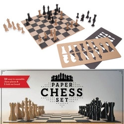 Chronicle Books Paper Chess Set ~ just pop out and play!