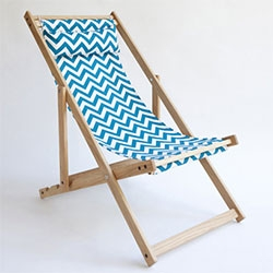 Lin Morris Handmade Deck Chair by Gallant & Jones - A North American white oak deck chair hand crafted in Vancouver.