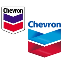 i guess this is old news, but it's new to me. chevron changed its logo sometime last year and it's so... blah ?  (old one on the left, new one on the right)