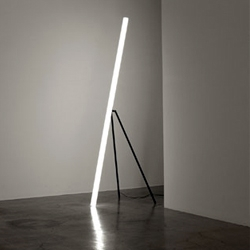 Super minimal floor-standing 'Light' LED lamp by Chicako Ibaraki.