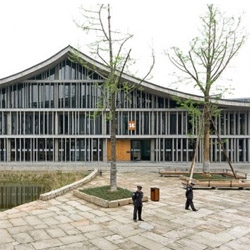 Incredible set of photos of the new Academy of Art in Hangzhou, China by Iwan Baan. The building, designed by Wang Shu from Amateur Architecture Studio, uses traditional chinese architecture in a contemporary way.