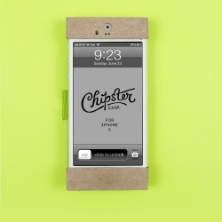 Chipster by pstypelab design studio wraps up your iPhone in a neat one piece cardboard case.