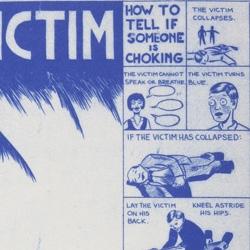 Brooklyn artist Alex Holden reimagines the ubiquitous Heimlich poster.