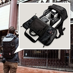 "Chrome Bag's new Niko Camera Pack - ""Weatherproof Video/DSLR camera backpack with customizable interior and padded laptop compartment. Guaranteed for Life."""
