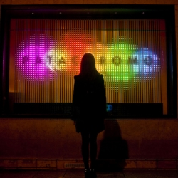"""""""Patachromo"""" is a beautiful, chromatherapy-based LED installation from France's Superbien."""
