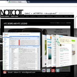 Notcot featured in Google Chrome OS mock-ups.