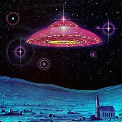 A lovely tiny gallery of large images of science fictional paintings by the epic Angus McKie.