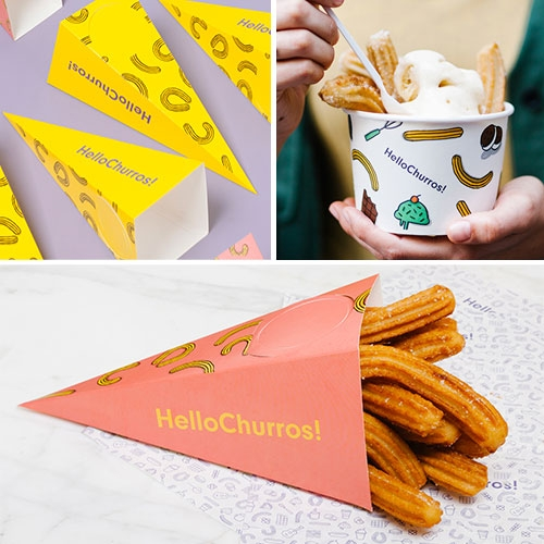 Appart_ partnered up with HelloChurros! to create a unique brand universe that could represent the brand values and captivate the hearts of the most demanding Bangkok foodies. Full branding, packaging and interior design services.