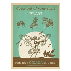 Celebrating the Brood 2 Cicada Invasion in style. Prints via Anderson Design Group in Nashville.