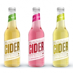 Here's a summery refreshment from the Norwegian design office Tank. They have made this pure, fresh and modern packaging for the new cider from Mack!