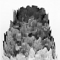 Cigarette Ash Landscape by Yang Yongliang.