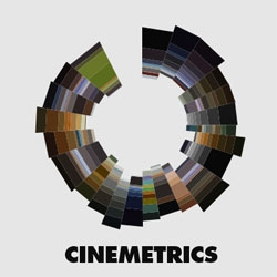 Cinemetrics, a film visualization project, by Fred Brodbrec.
