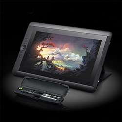 Wacom's Cintiq 13HD - slimmer and more compact, high res (1920x1080), and super sensitive (2048 levels!) Pro pen with carrying case...