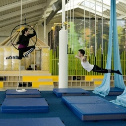 New facilities for the Vancouver Circus School, designed by Marianne Amodio Architecture Studio,  conceived as a backdrop to the spectacular circus events of the company.