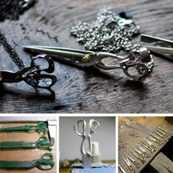 Scissors! Complete Technique X SVSV Shear Pendants ~ and a peek behind their amazing making of as well!