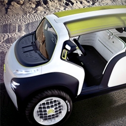 Citroen / Lacoste concept car gallery. Fun small leisure concept car with no roof or proper doors. Interesting pixelated dash-board.