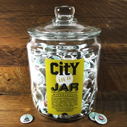 All of your favorite landmarks, hot spots and architectural wonders turned into iconic, wearable badges.  CITY in a JAR is a smart new project from the people at Workerman.
