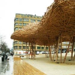 CityScape, an urban installation by Arné Quinze in Brussels.