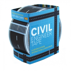 Lay a street down on your carpet with Civil Engineer Tape from the HungryRobot Shop. Turn a box into a village.