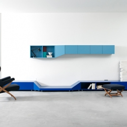 Claesson Koivisto Rune created this series of shelves called Hillside. Going up and down in bright colours these furnitures are really artful pieces for room decoration.