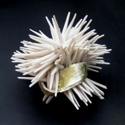 beautiful organic creations in porcelain from uk-based artist claire palastanga.