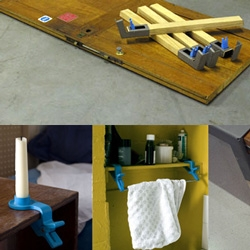 Clamp on to CLAMPOLOGY ~ the science of clamping your way to functional new uses for the everyday.