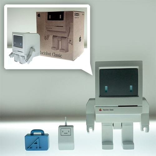 Macinbot Classic - adorable little 10cm tall injection molded ABS plastic toy by playsometoys.