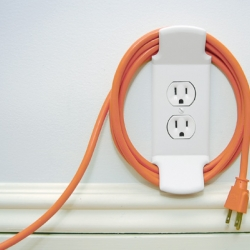 """The Wall Cleat is designer Karl Zahn's answer to the question, """"What use is an electrical plug when your not plugged in?"""" A truly innovative blessing for the neat-freaks and cord-tangle haters out there."""