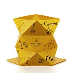 This year at the Salone del Mobile, Veuve Clicquot will debut their latest design collaboration, Clicq'Up, an origami inspired design object by Belgian designer Mathias van de Walle.