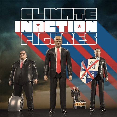 Climate Inaction Figures - toy-inspired likenesses of prominent public figures who claim, despite overwhelming evidence to the contrary, that there is no reason to act. They are the brainchild of creative directors Cabot Norton and Arturo Aranda.
