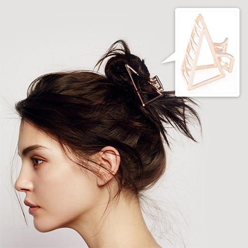 Rose Gold Triangle Metal Claw Hair Clip at Free People