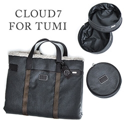 Cloud 7 and TUMI have teamed up for quite the designer dog's travel collection including a large travel bed, carrier, and travel bowl.